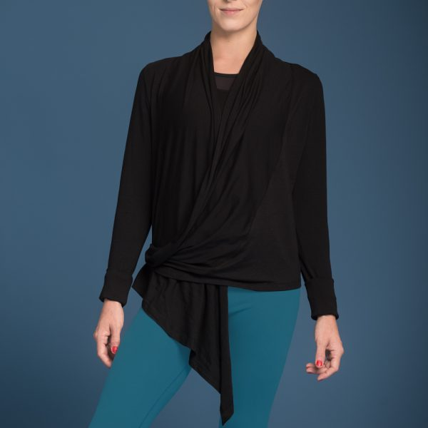 nice - wrap around yoga-jacket Schwarz1