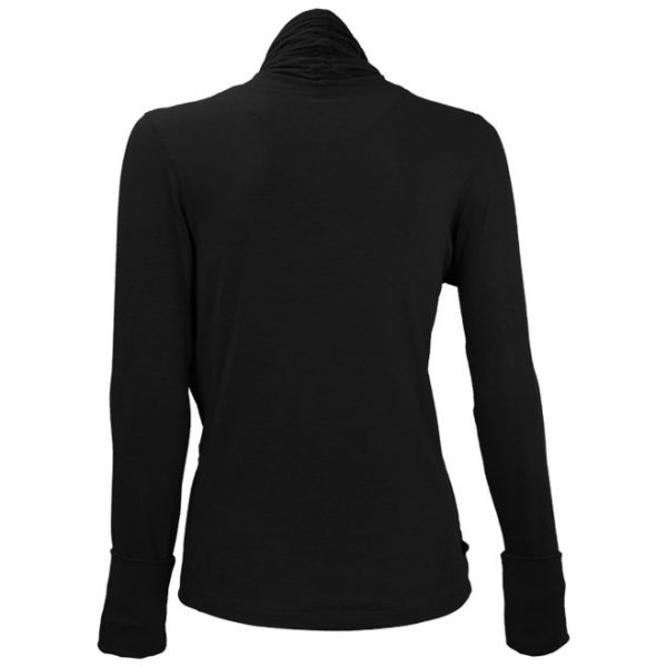 nice - wrap around yoga-jacket Schwarz3