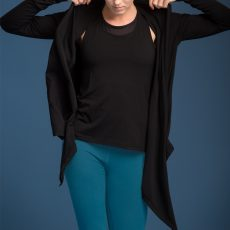 nice - wrap around yoga-jacket Schwarz4