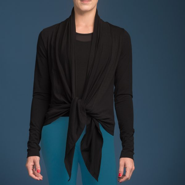nice - wrap around yoga-jacket Schwarz5
