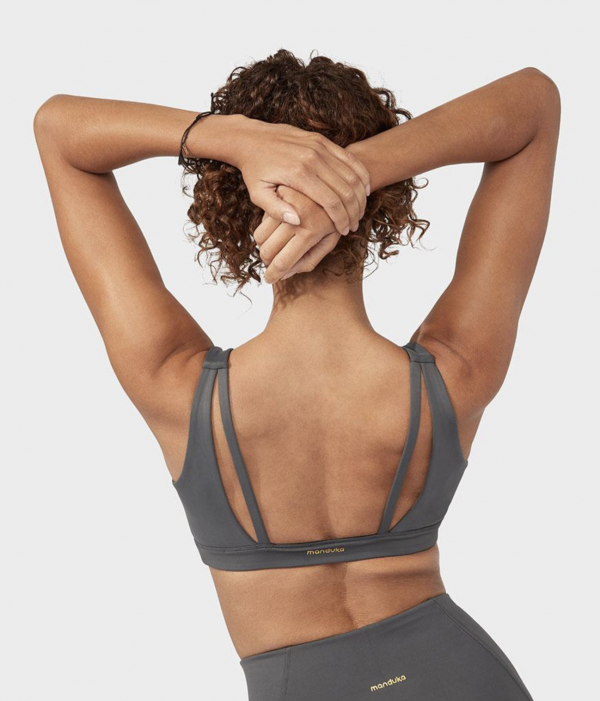 Manduka Pro Bra Double Strap New Grey 1