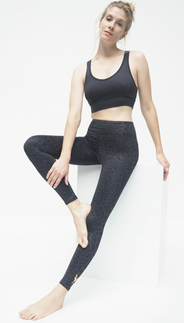 Ganga Leggings 7:8 - Anthracite Leo 2